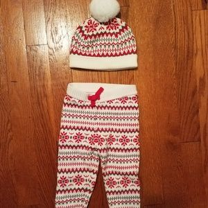Knit Gymboree Baby Pants and Hat 2017